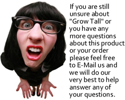 """GROW TALLER NOW! """"GROW TALL®"""" FAST! SAFE! EFFECTIVE! 4 Month Course"""