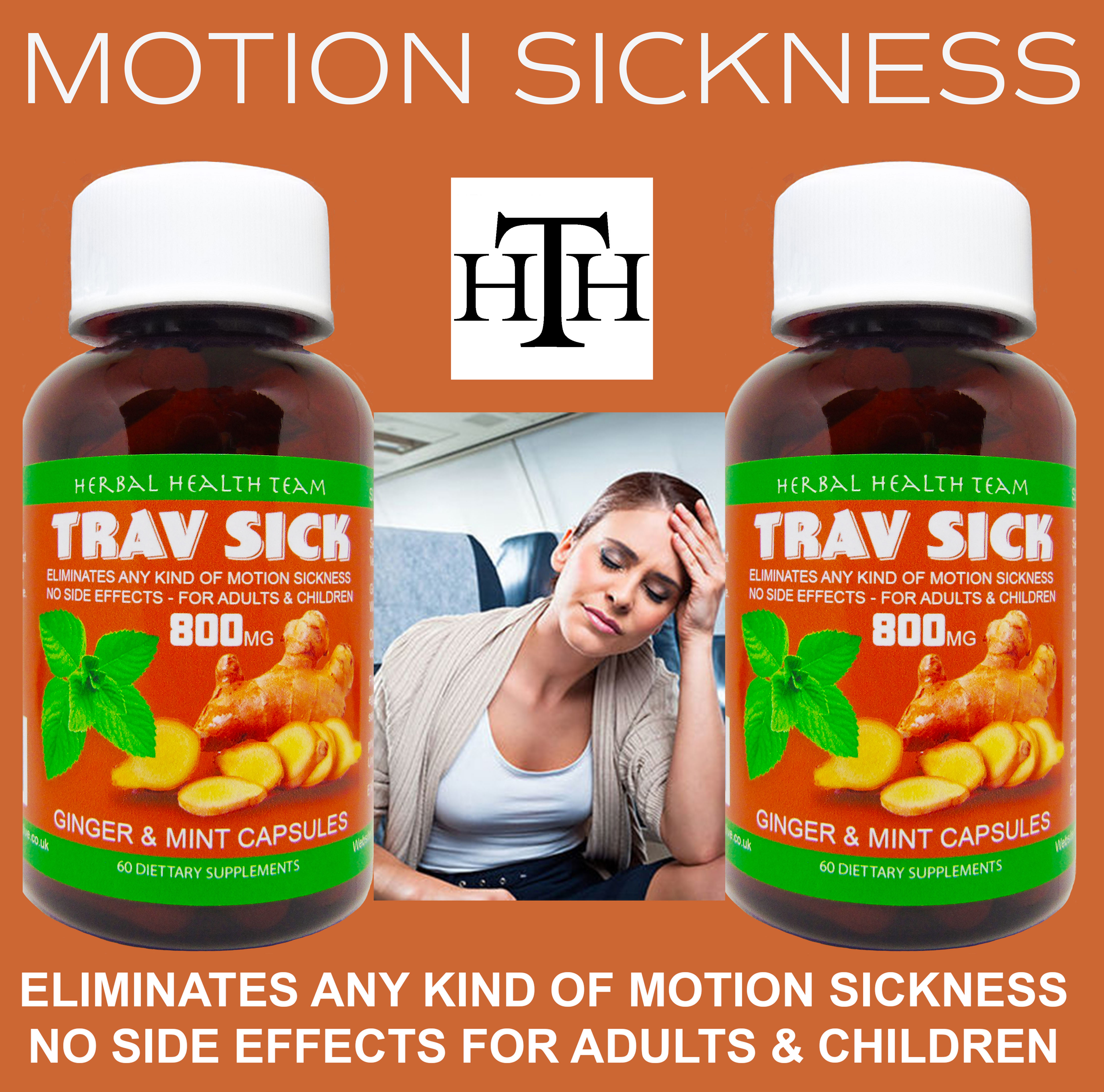 Travel sick 2 bottles 120 capsules